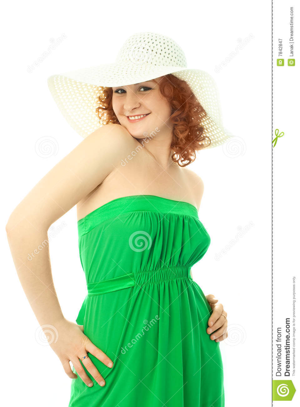 Portrait of a beautiful young sexy woman dresses in summer clothes