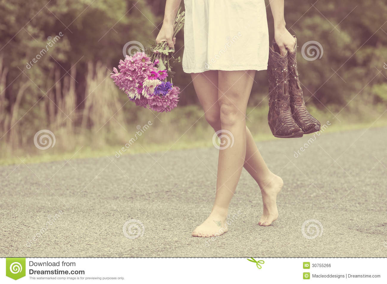 woman walking in barefeet stock photo. image of adult - 30755266