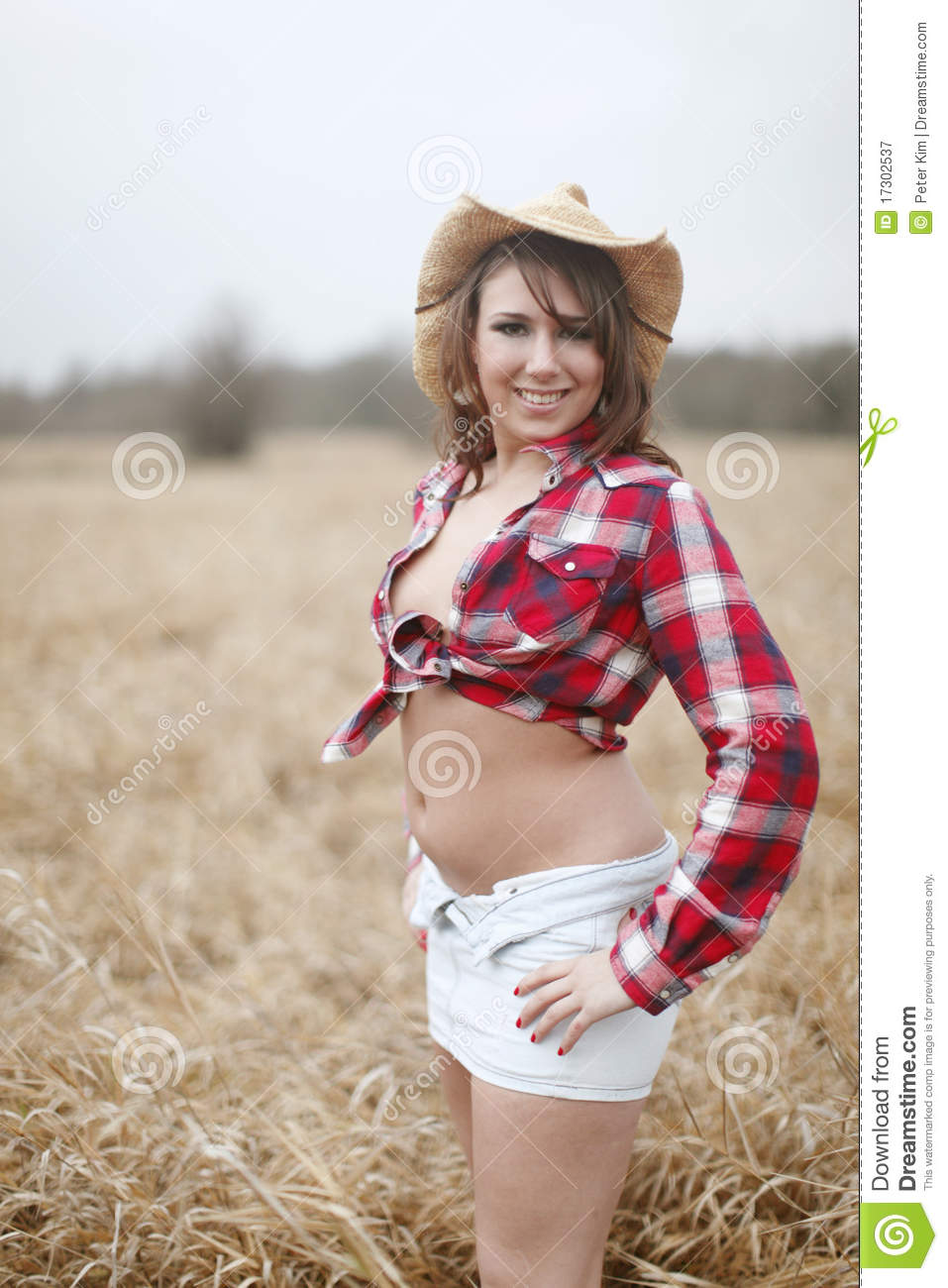 Woman wearing cowboy hat stock image. Image of attractive - 17302537 99095940b45b