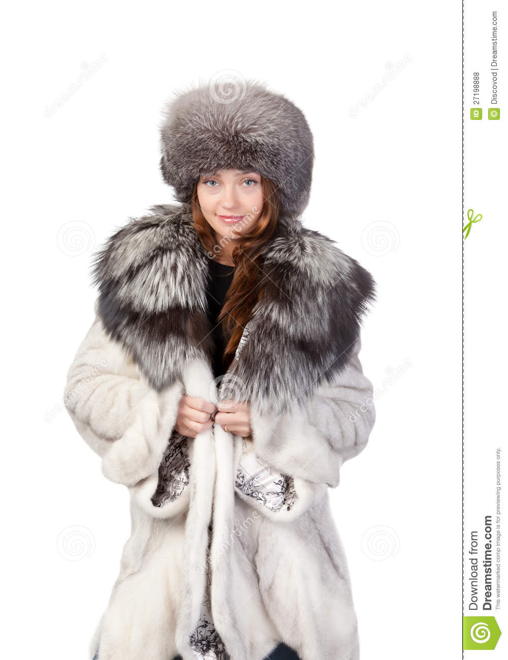 Sexy Woman Wearing Winter Fur Royalty Free Stock Photos - Image