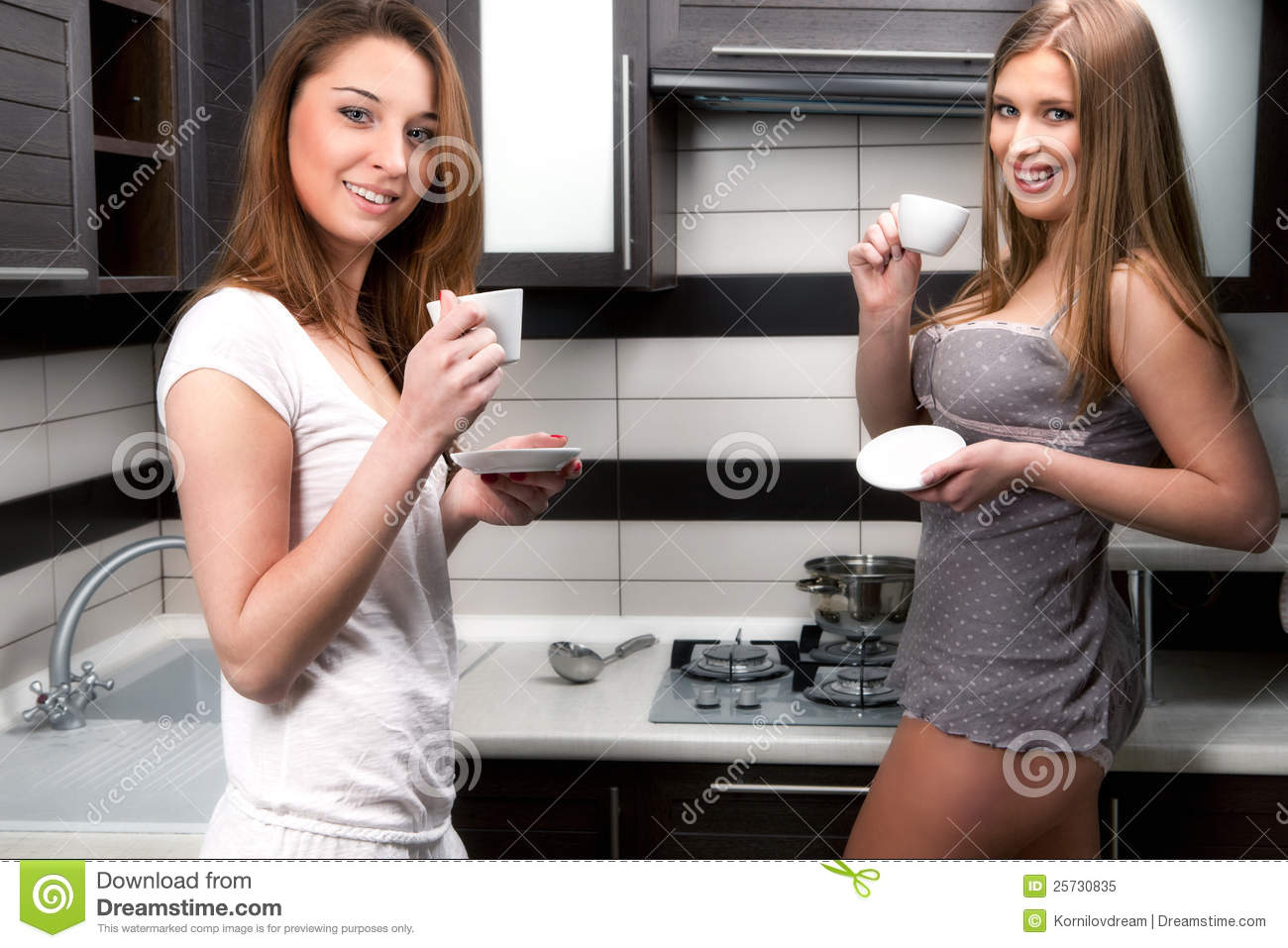 women with cup of coffee