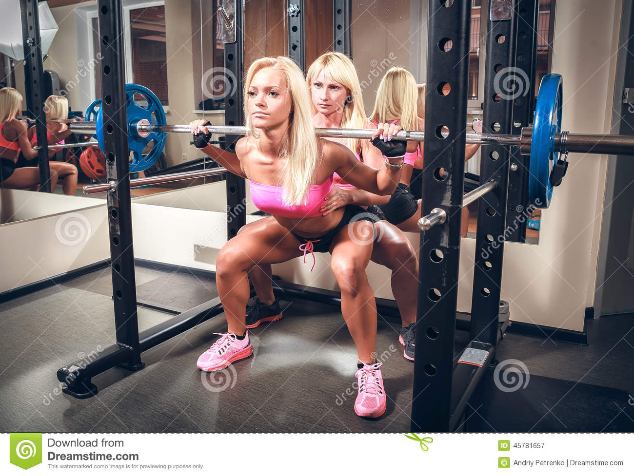 Sexy women at the gym