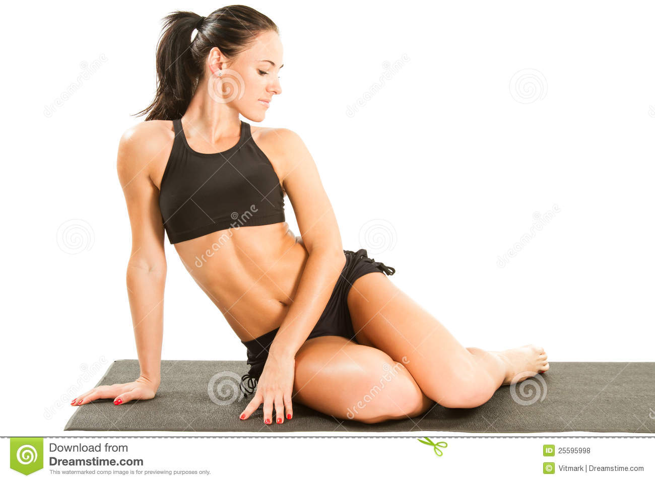 Yoga Female Doing Yogatic Exericise Royalty Free Stock -1189