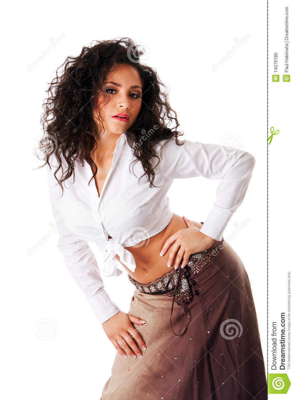 sexy young latina woman royalty free stock photo