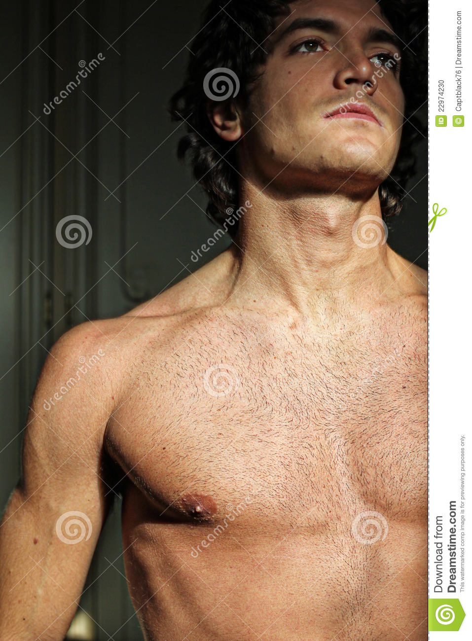 young man with naked torso stock photo. image of muscular - 22974230