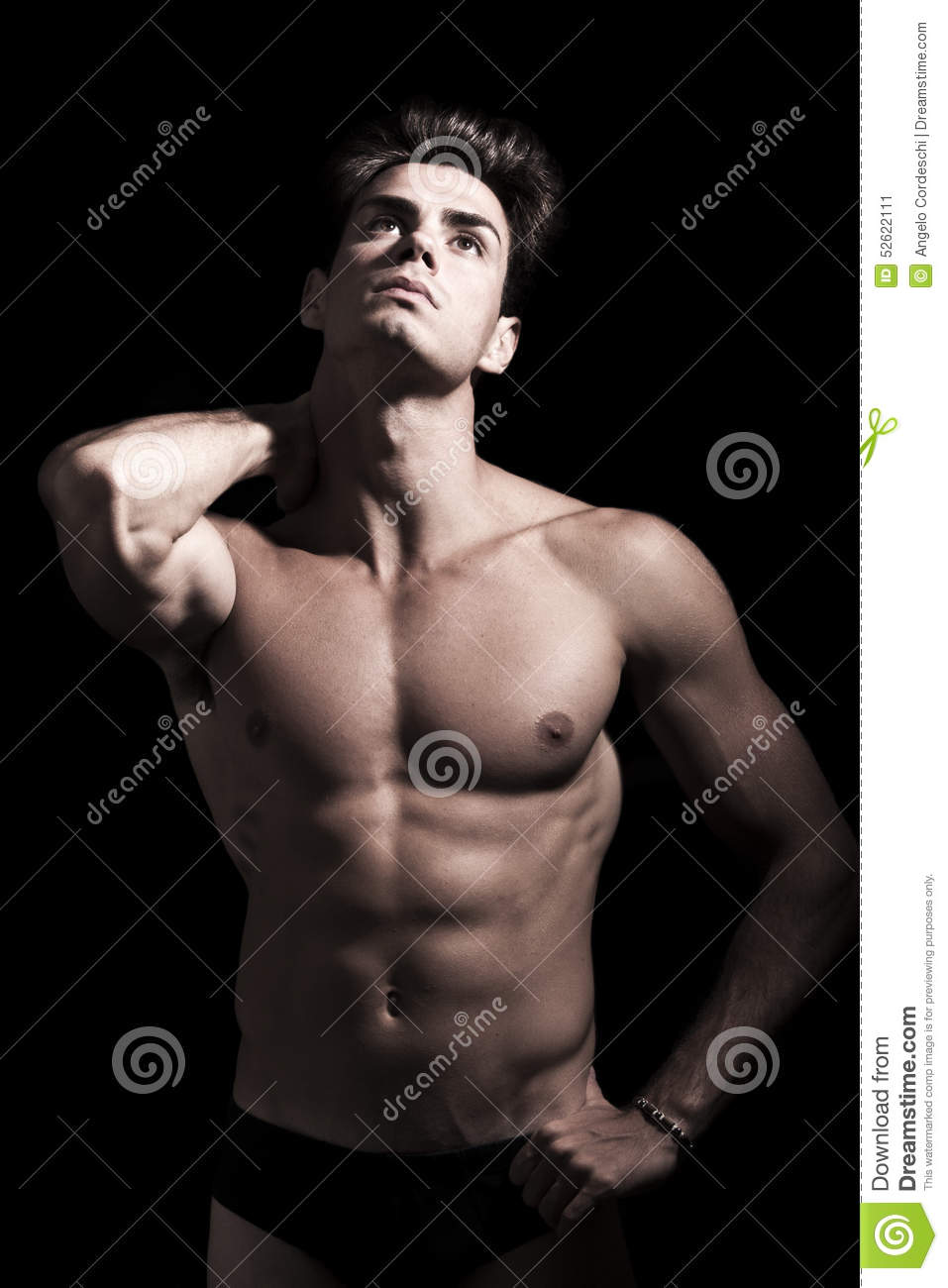 Download Young Man Shirtless. Gym Muscular Body. Neck Pain. Stock Image - Image of abdominal, face: 52622111