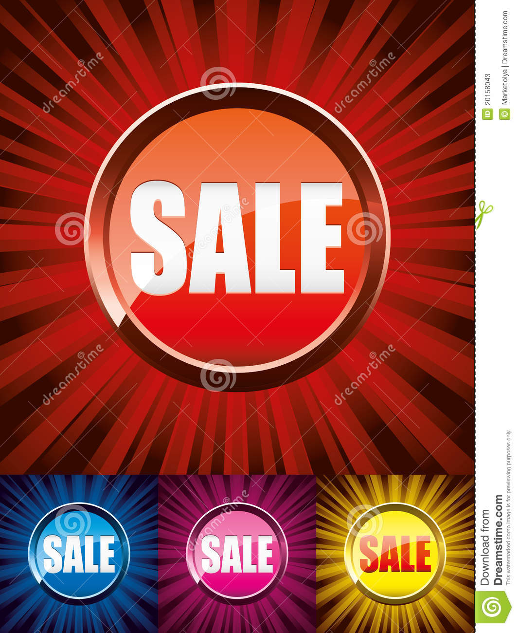 Sey of sale buttons