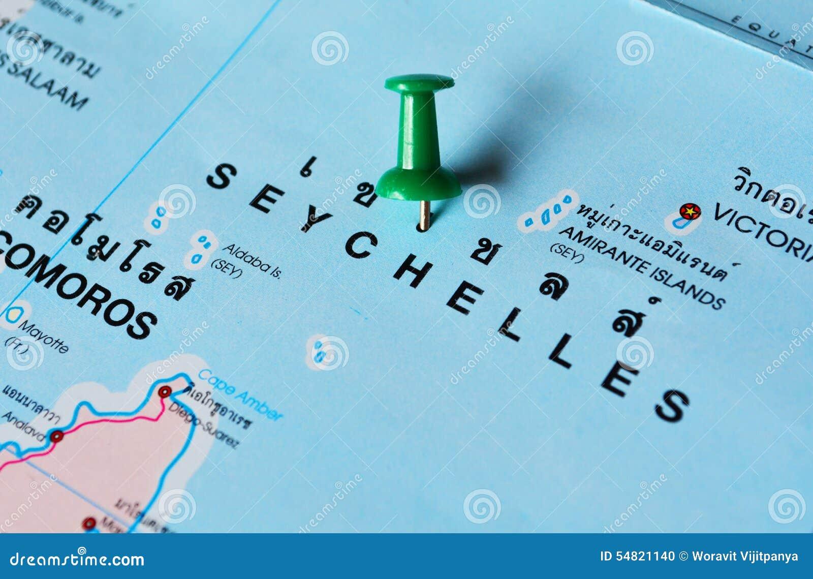 Seychellen Karte Afrika.Seychellen Karte Stockfoto Bild Von Politisch Afrika 54821140