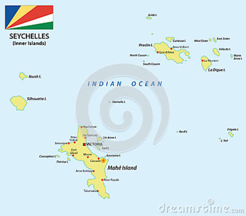 Seychelles Map With Flag Stock Illustration Image - Indian ocean seychelles map