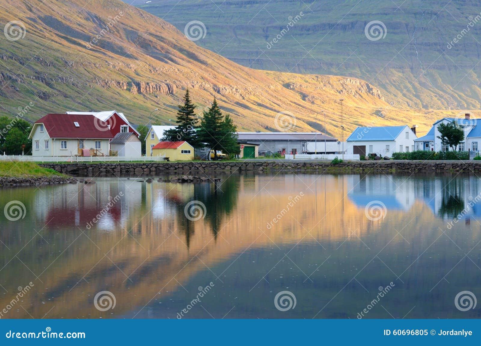 Seydisfjordur town Reflection