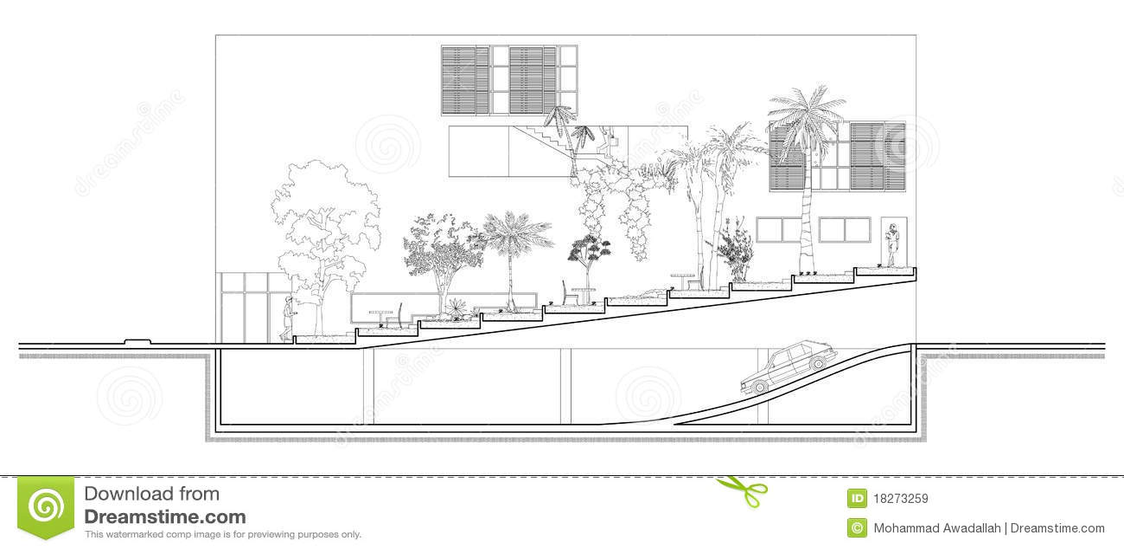 Sezione Del Giardino Illustrazione Vettoriale Immagine Di
