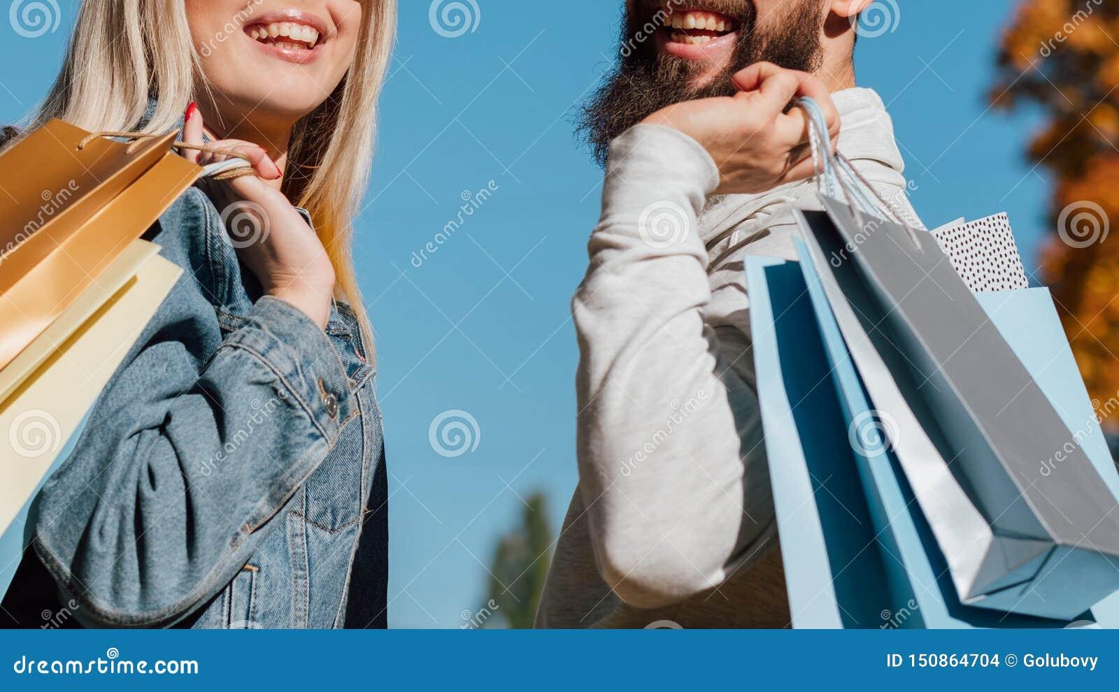 Sezon jesienny pary nowe inkasowe torby na zakupy