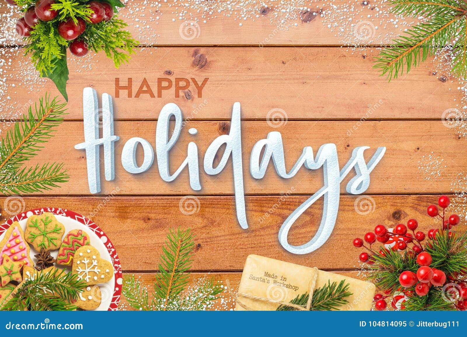 Sezonowa Świąteczna Szczęśliwa wakacje karta