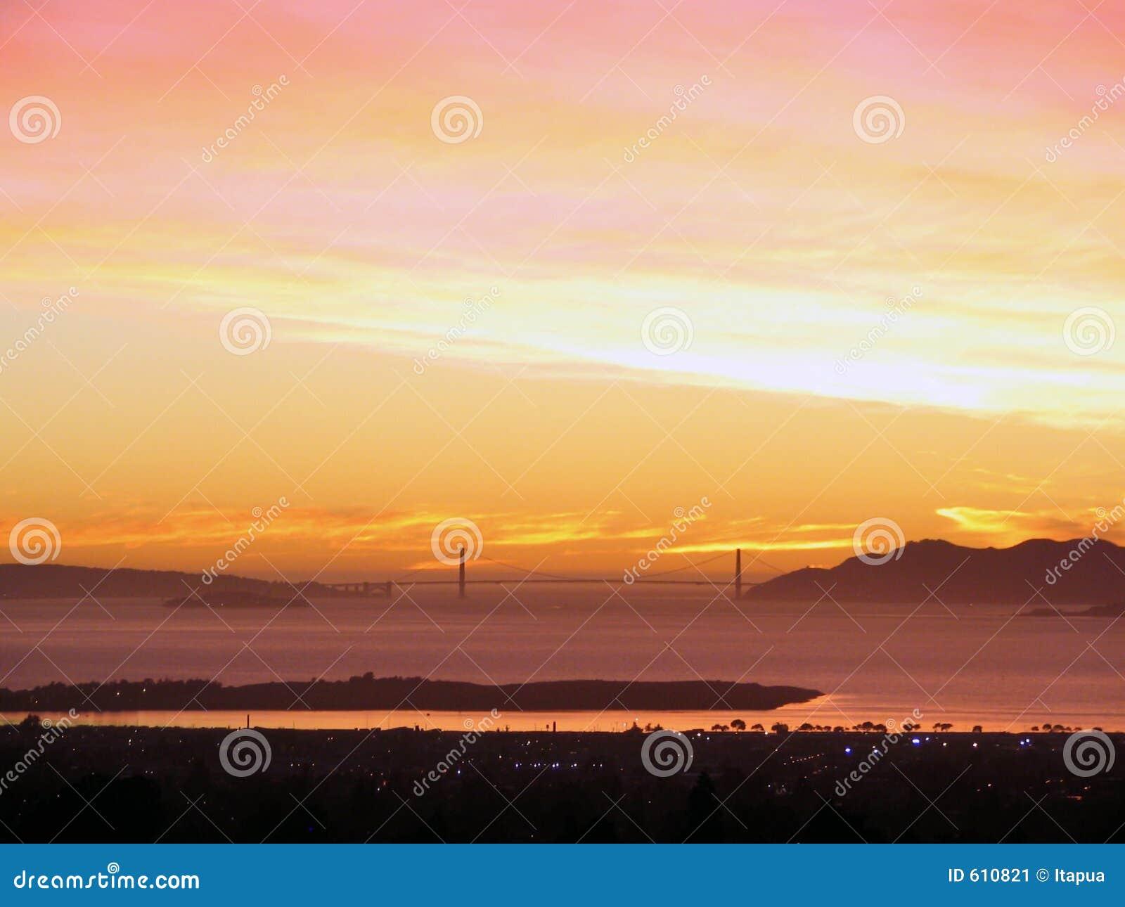 SF de Baai van het oosten sunset_Golden Poort