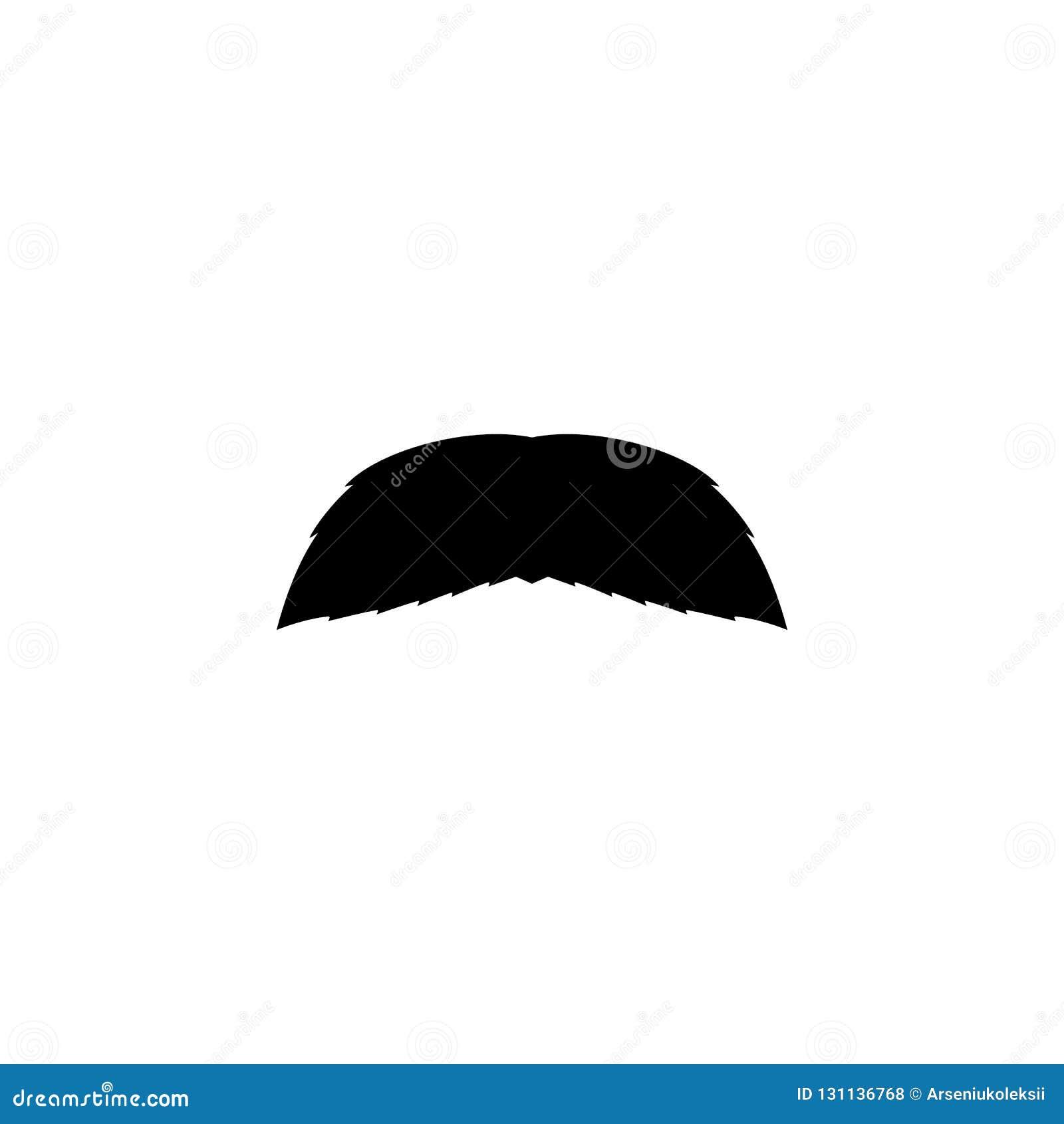 Sfałszowanego wąsa prosta czarna ikona Mężczyzny wąsy sylwetka