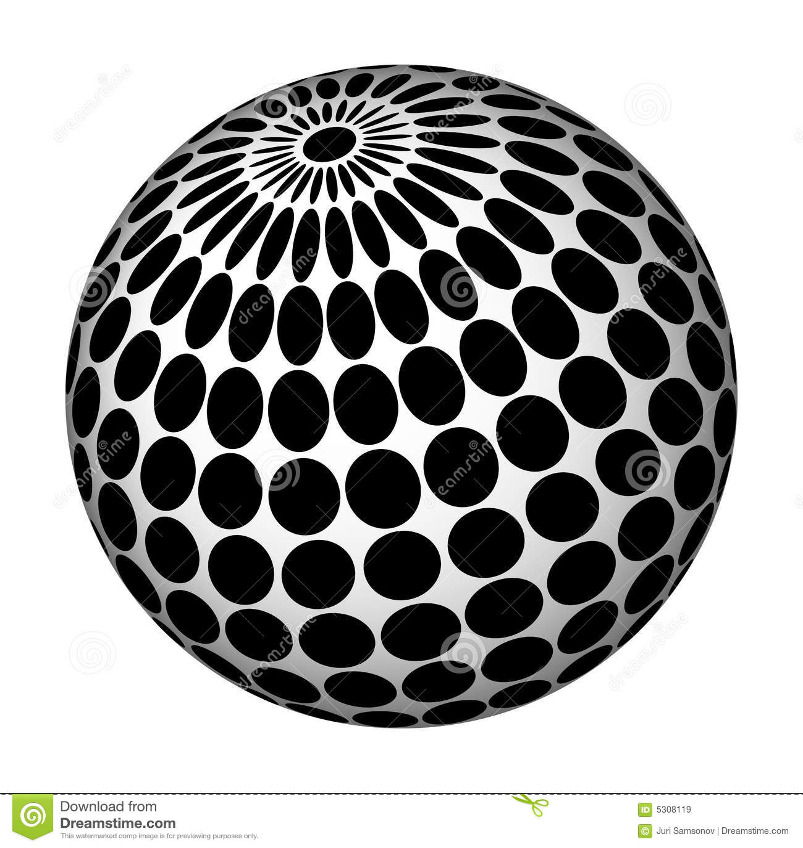 Download Sfera astratta. illustrazione vettoriale. Illustrazione di curva - 5308119