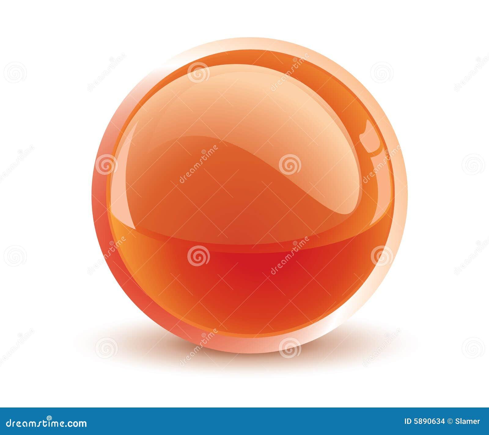 Sfera dell arancio di vettore 3d