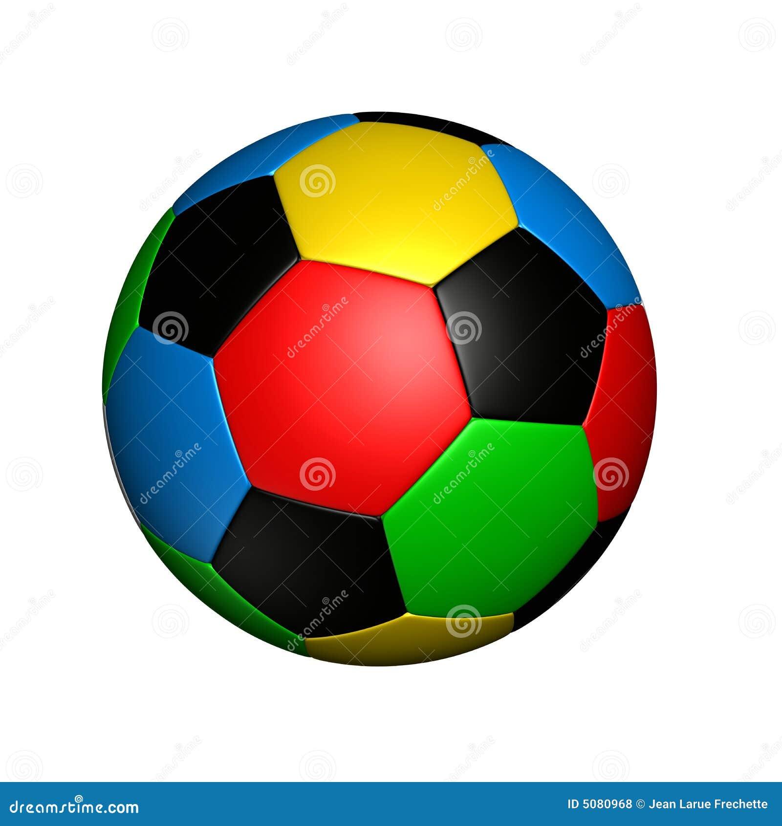 Sfera di calcio colorata olimpica