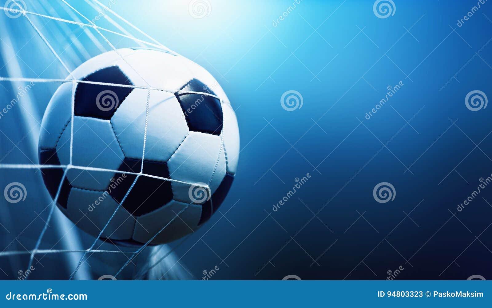 Sfera di calcio nell obiettivo
