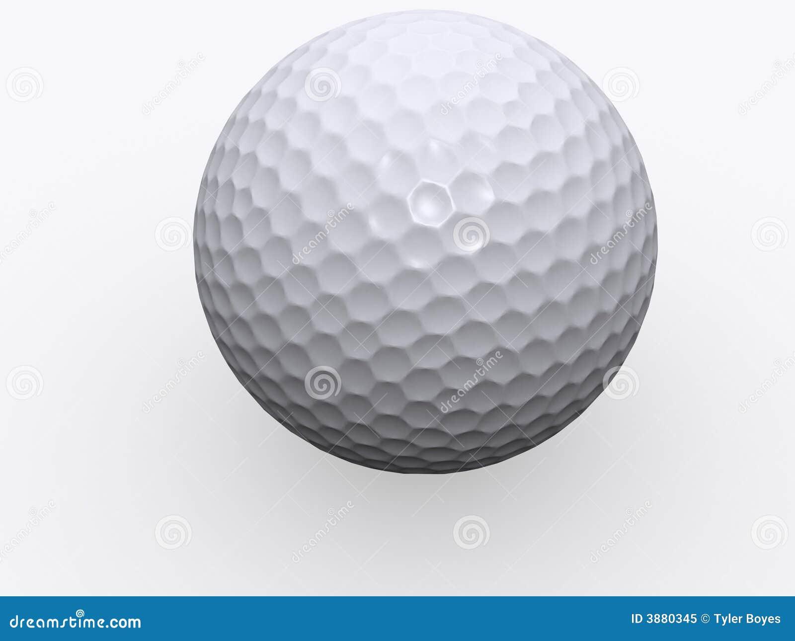 Sfera di golf isolata 3d