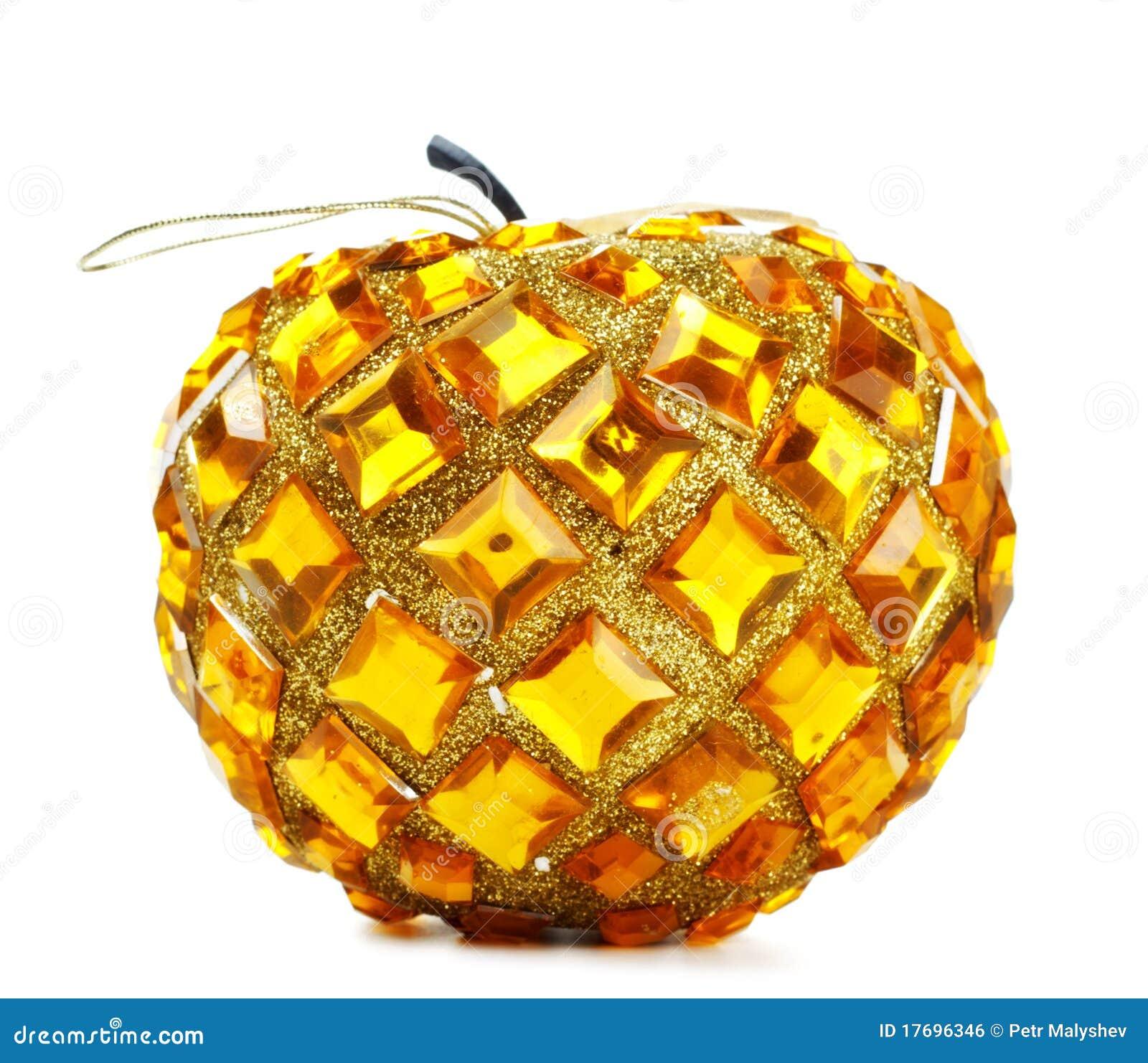 Sfera di natale nella figura della mela