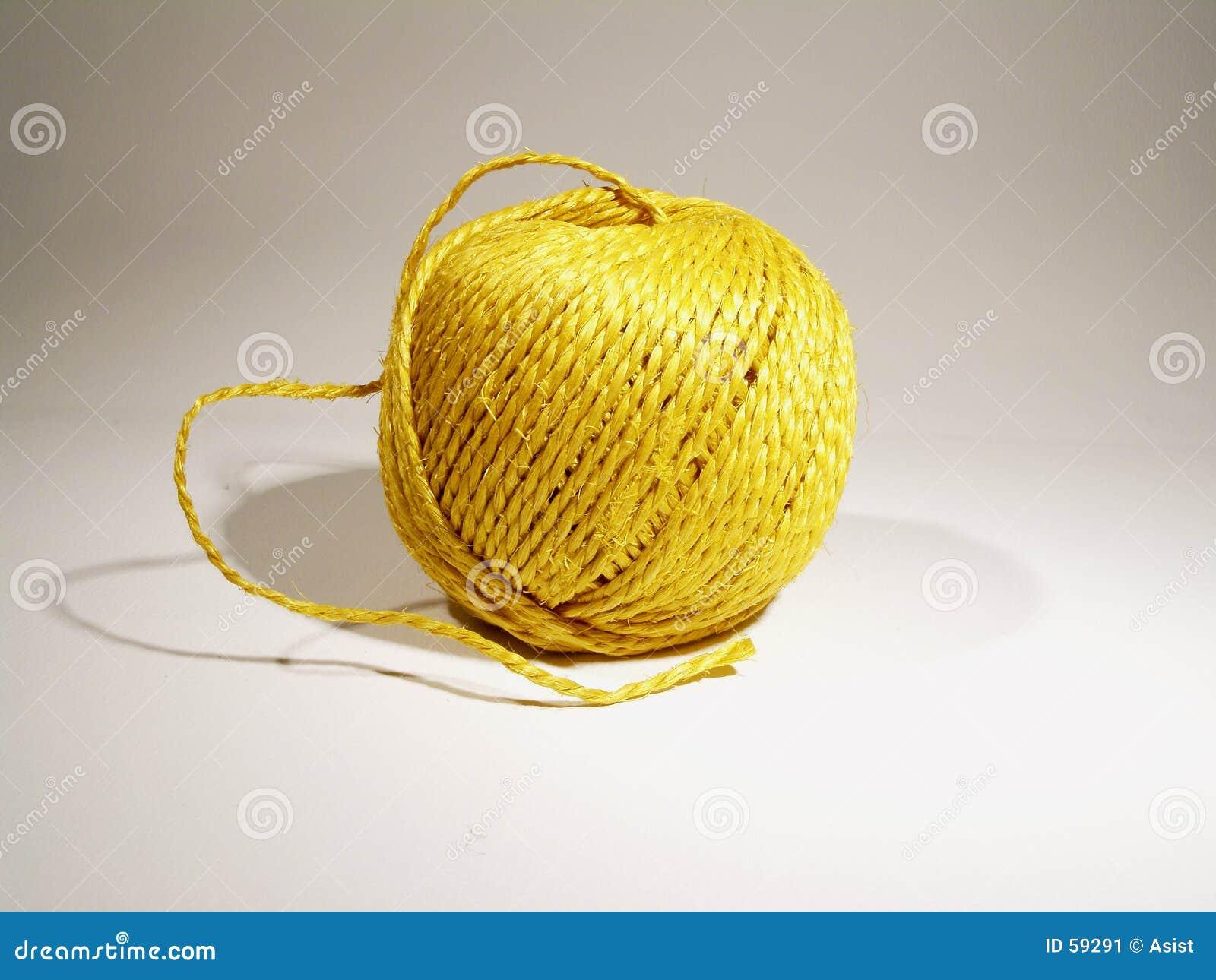 Sfera di stringa gialla