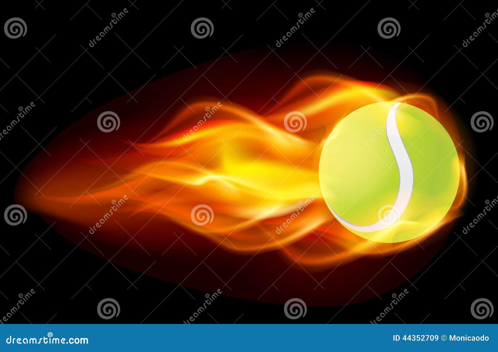 Sfera di tennis ardente