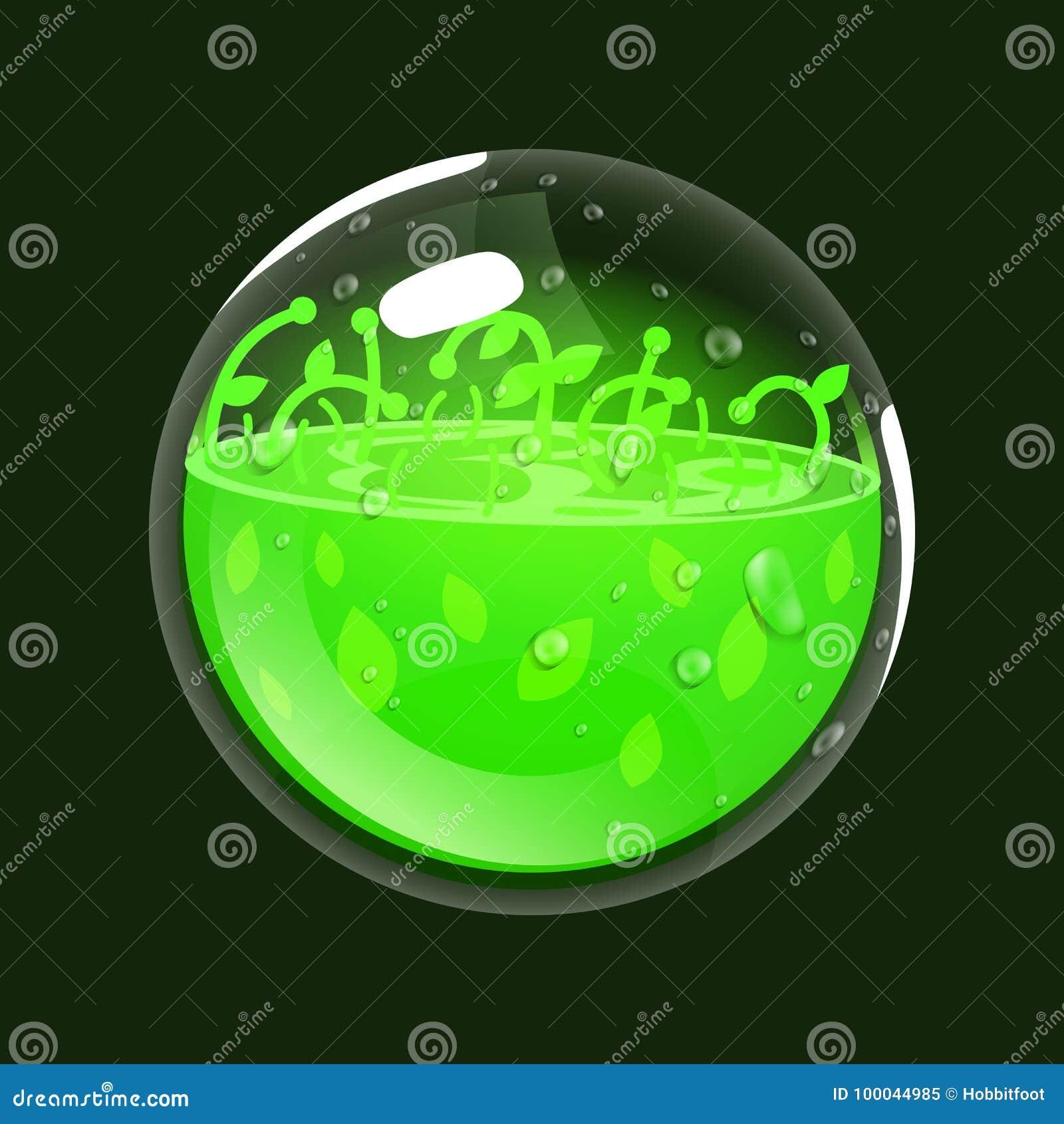 Sfera di vita Icona del gioco del globo magico Interfaccia per il gioco rpg o match3 Salute o natura Grande variante