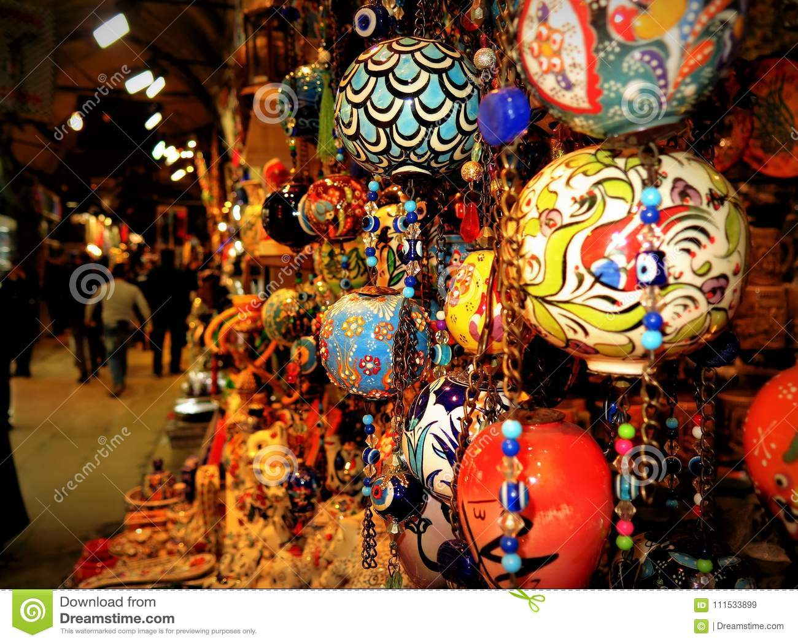 Sfera ornamenty w Istanbul bazarze