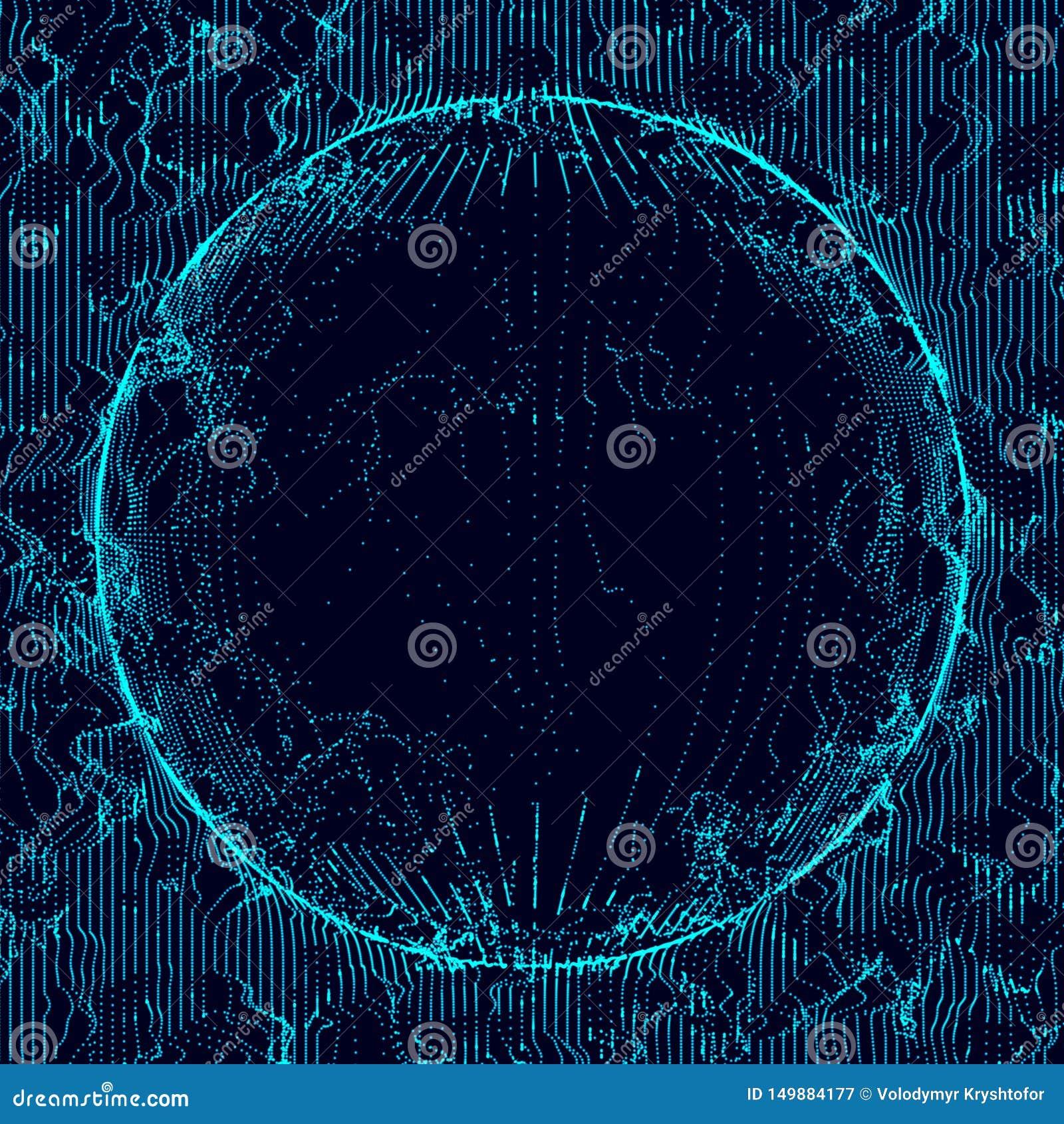 Sfera wieloskładnikowi punkty Abstrakcjonistyczny wormhole ?wiadczenia 3 d