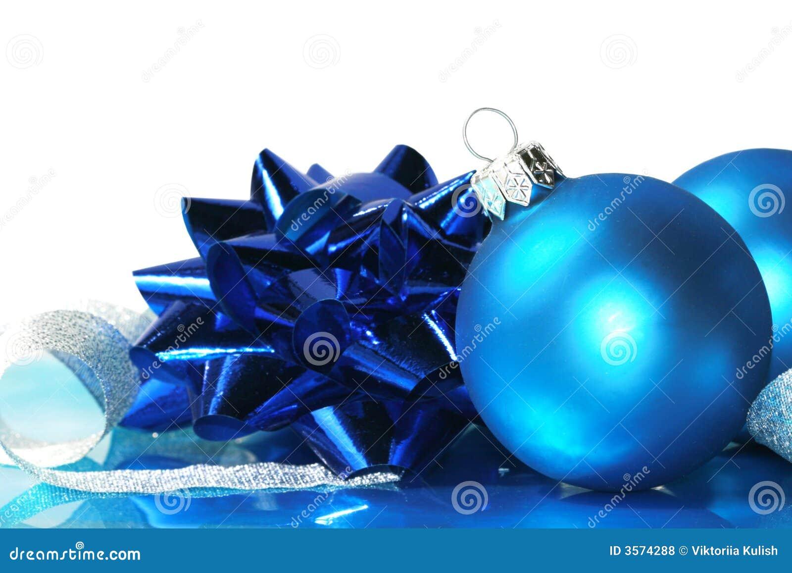 Sfere blu di natale