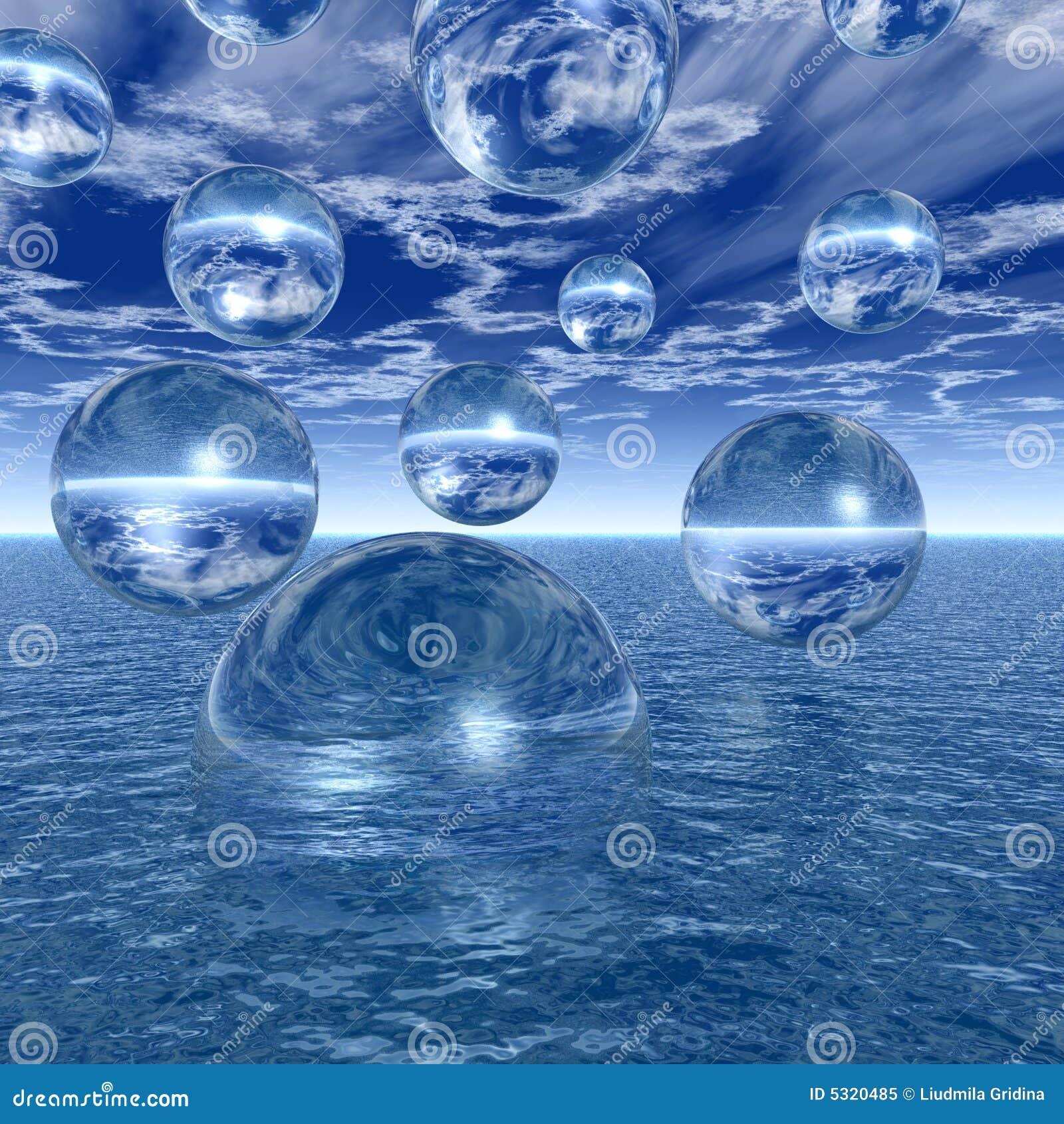 Download Sfere dell'acqua illustrazione di stock. Illustrazione di onde - 5320485
