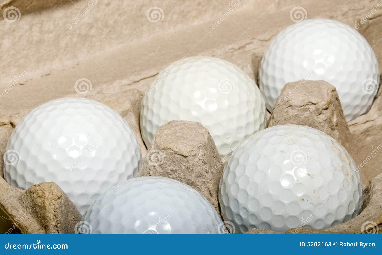Download Sfere di golf immagine stock. Immagine di cinque, hobby - 5302163