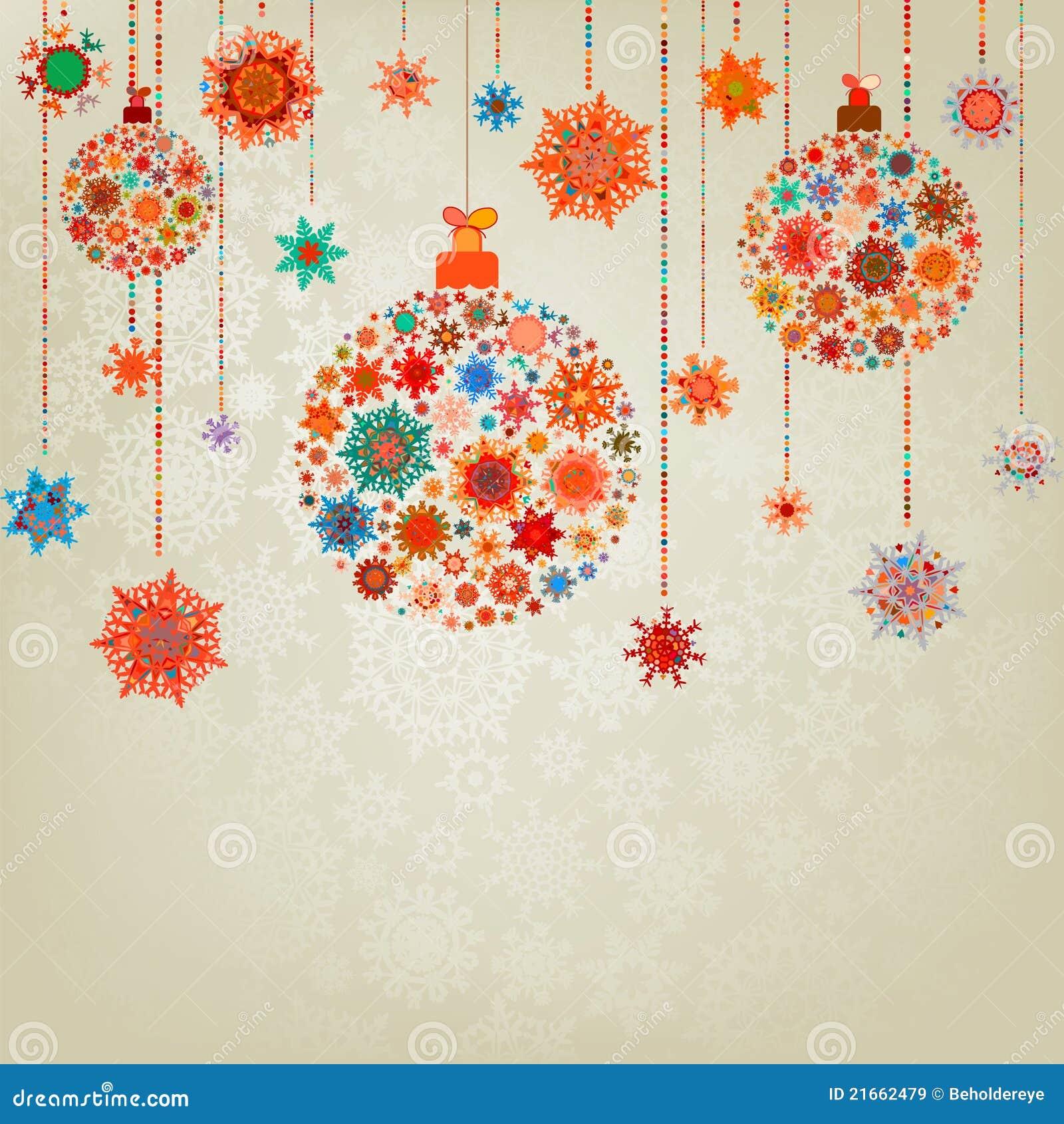Sfere stilizzate di natale su beige env 8 illustrazione for Immagini natale stilizzate