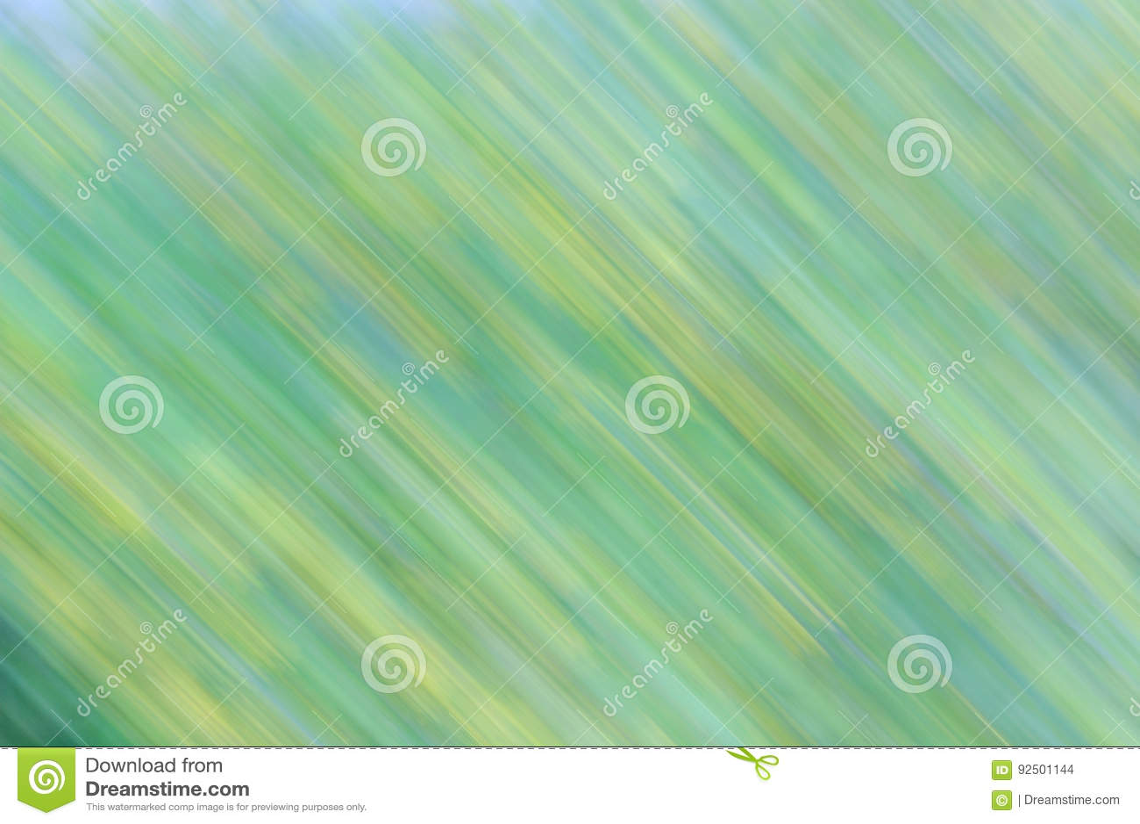 Sfondo Naturale Verde E Giallo Astratto Con Effetto Del Movimento