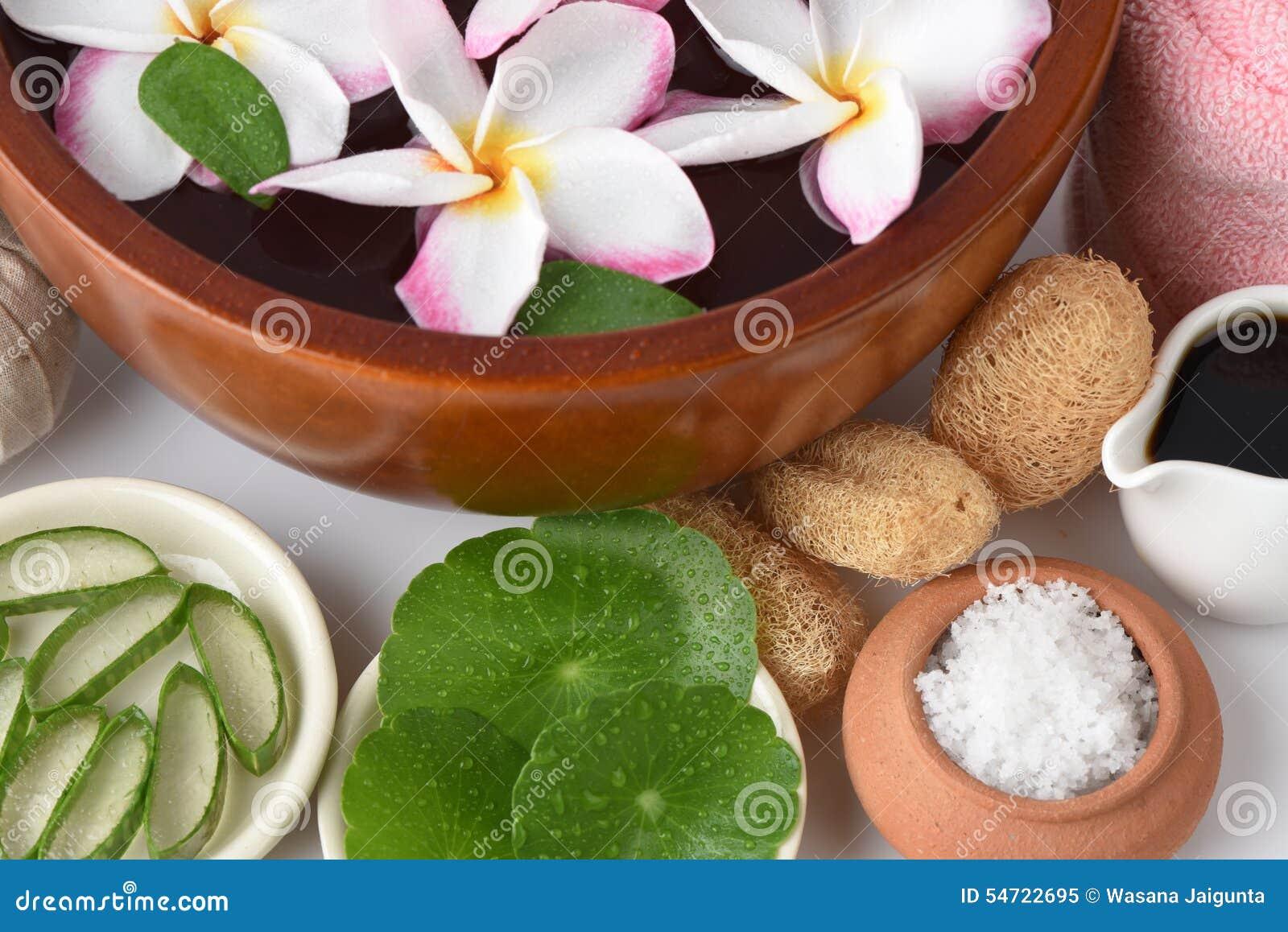 Sfreghi la stazione termale con l aloe vera, Pennywort asiatico, Tiger Herbal e miele della miscela del sale