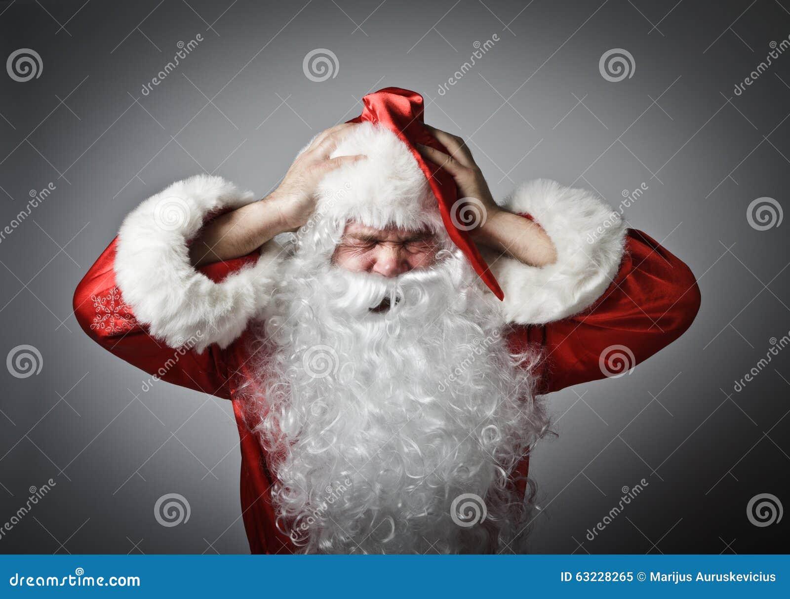 Sfrustowany Święty Mikołaj