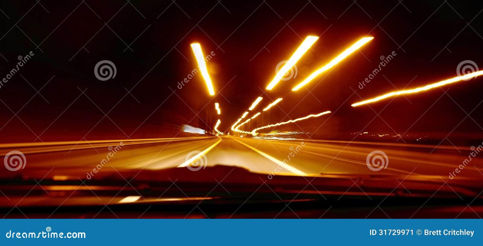 Sfuocatura di velocità della strada