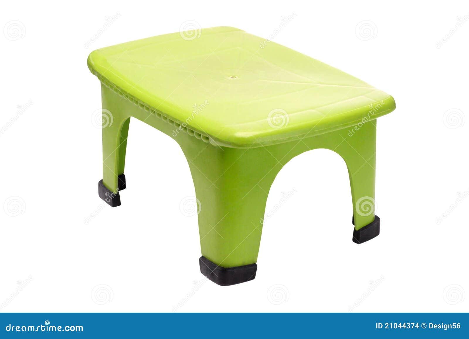 Sgabello di plastica verde fotografia stock immagine di piccolo