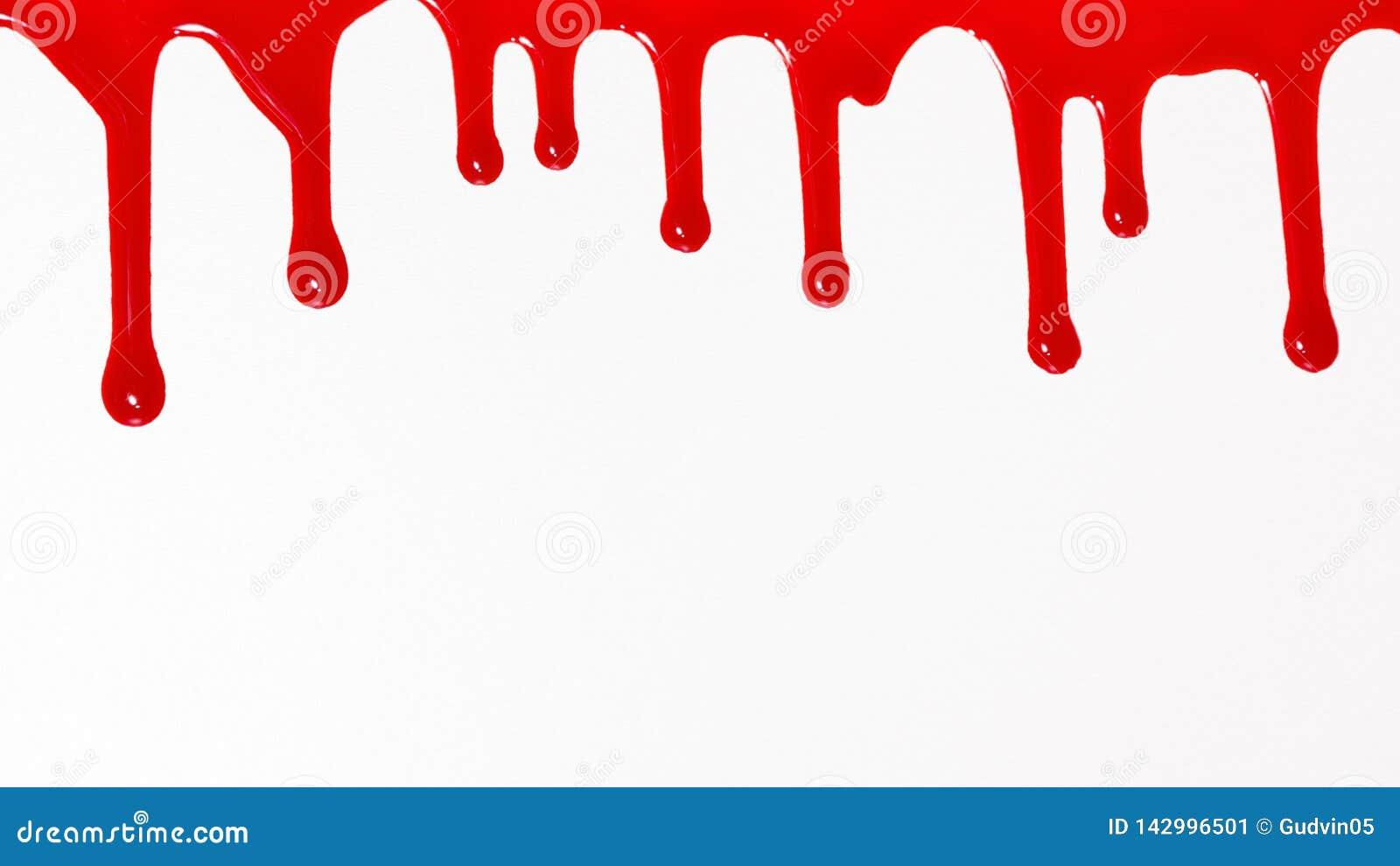 Sgocciolatura del sangue sul fondo bianco