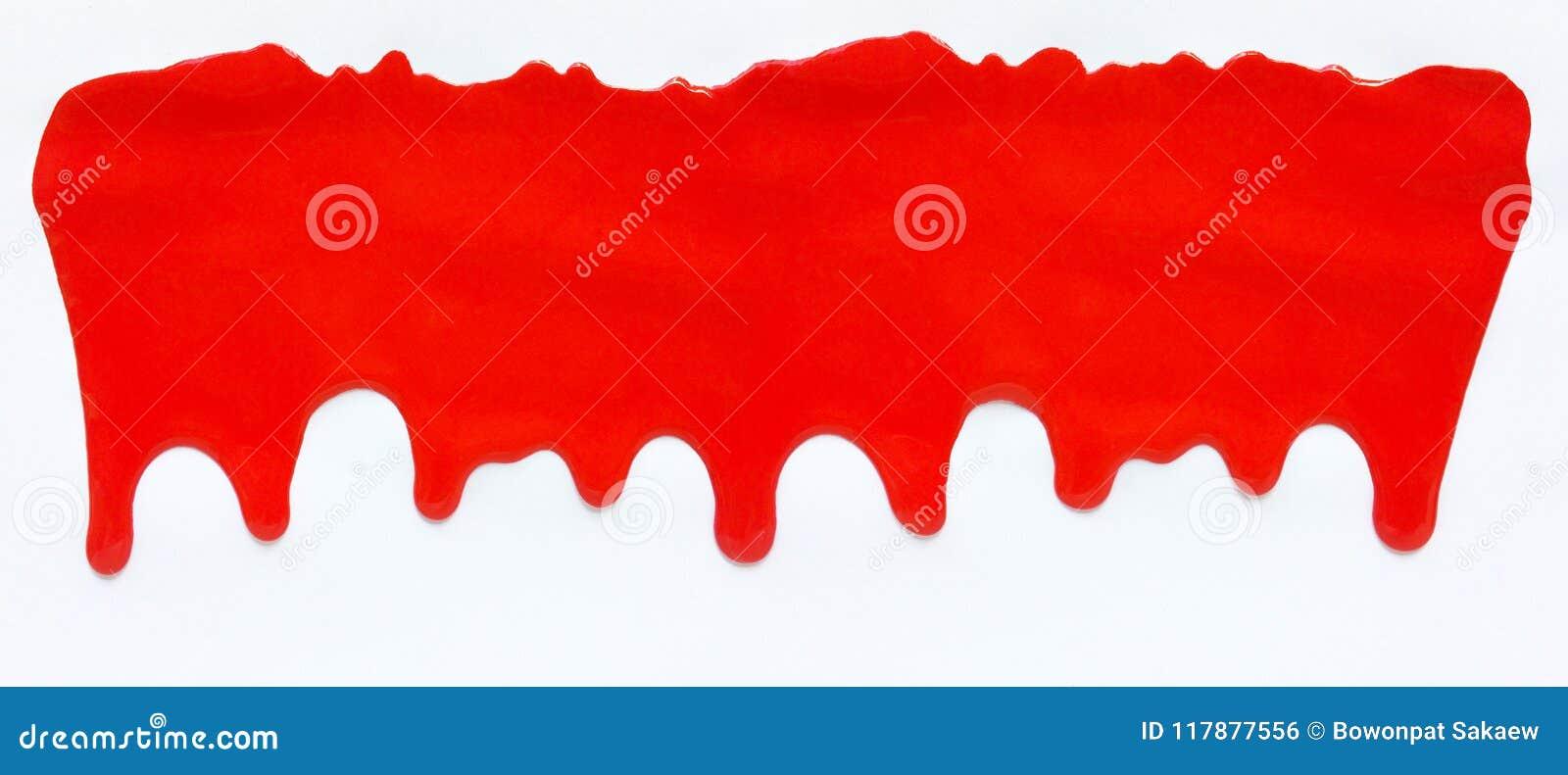 Sgocciolatura di colore rosso, fondo cadente di colore