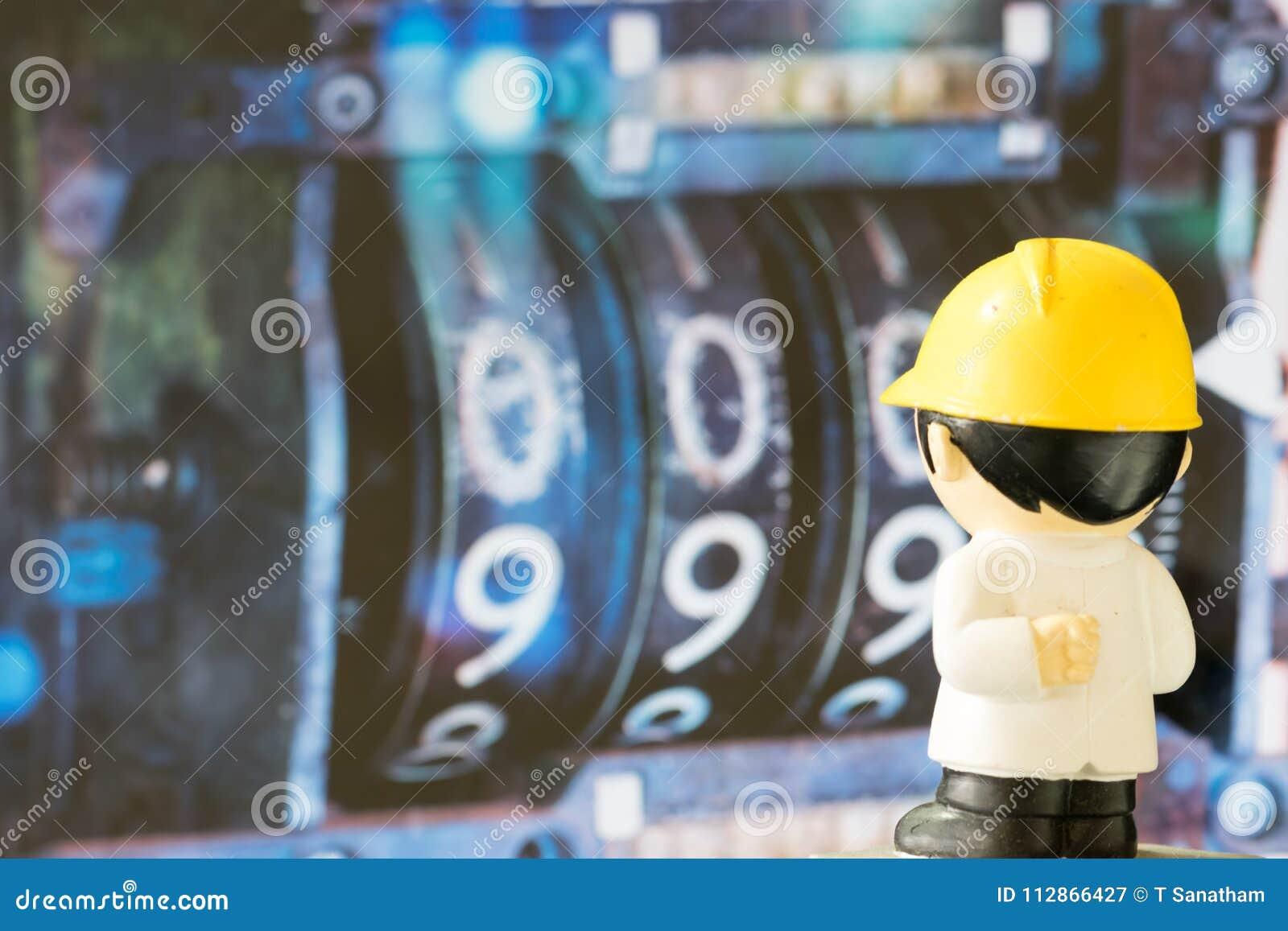 Sguardo dei personaggi dei cartoni animati di ingegneria ai numeri