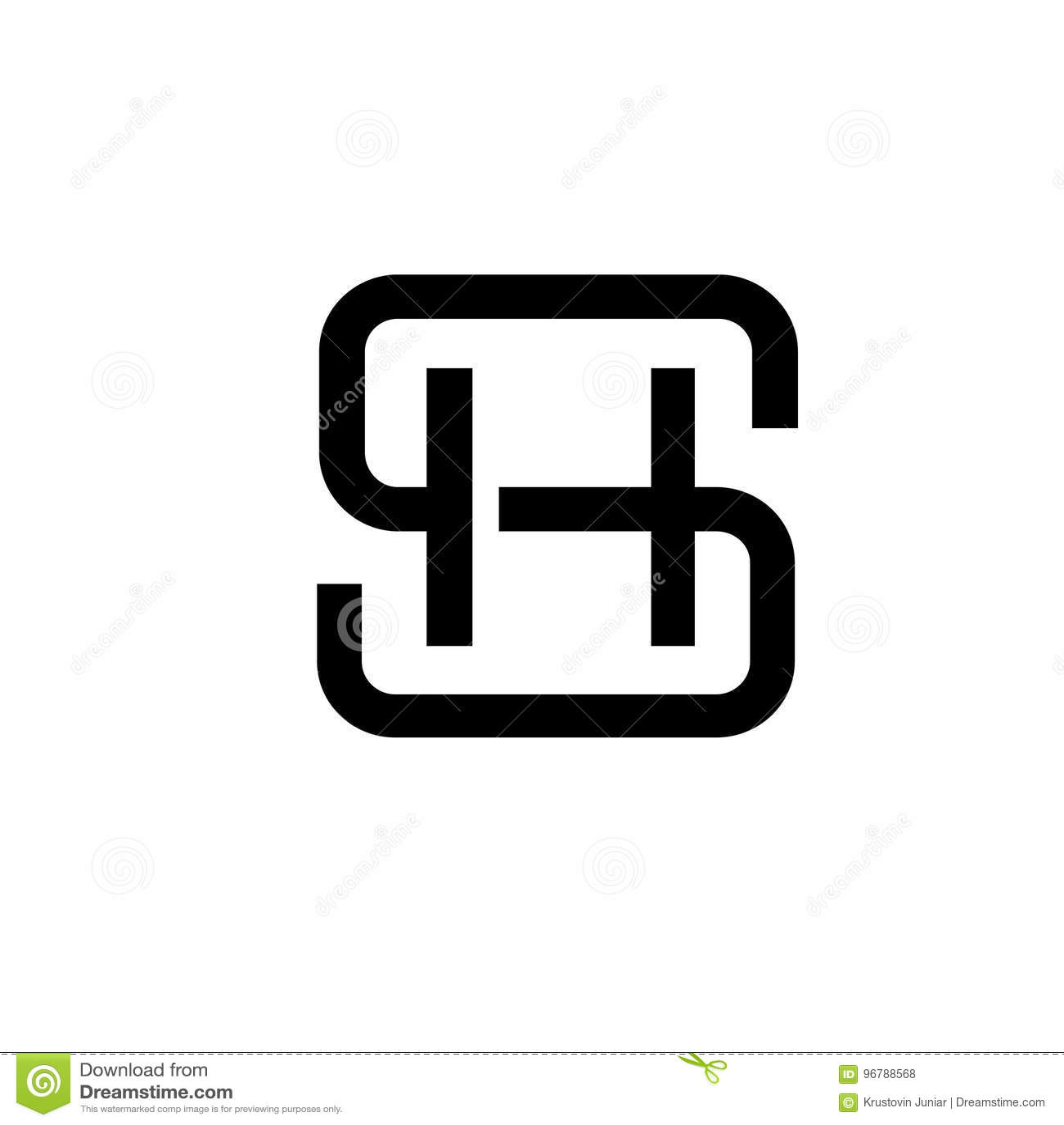 SH έννοια λογότυπων επιστολών