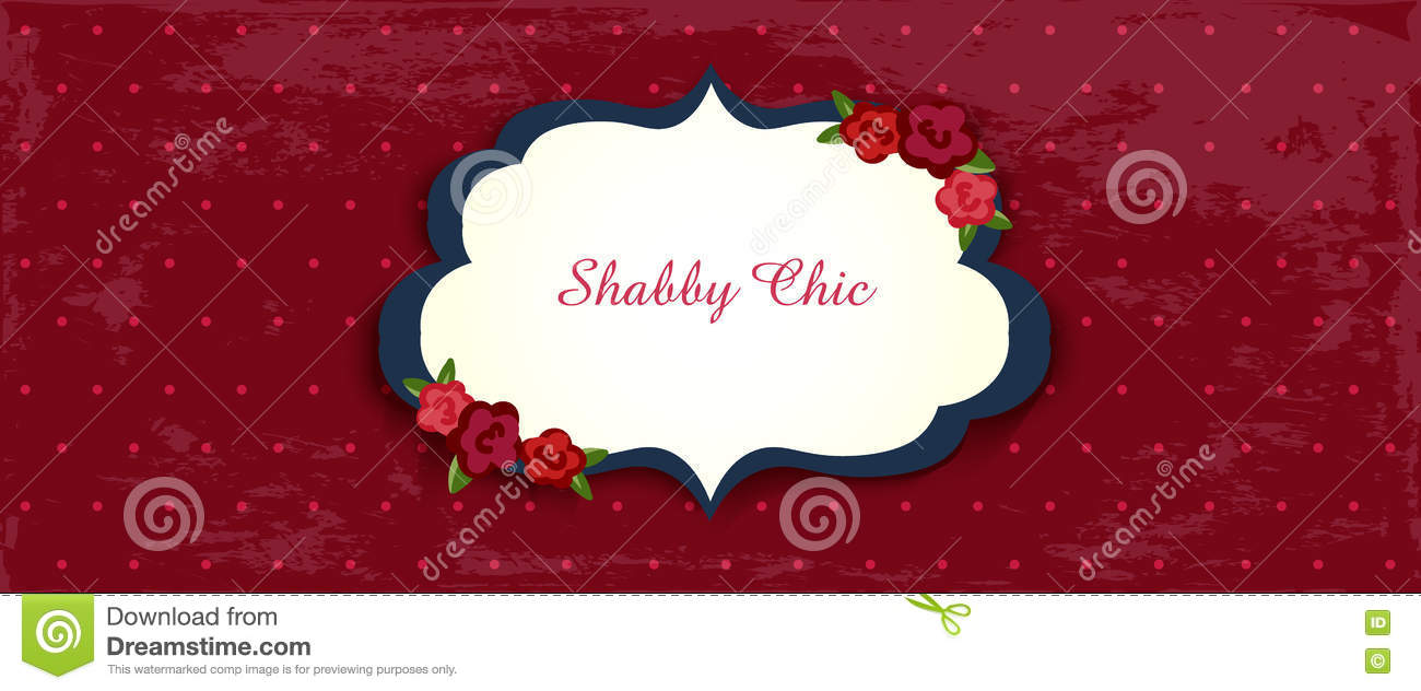Shabby Chic Card. Classic Romantic English Style Stock Vector ...