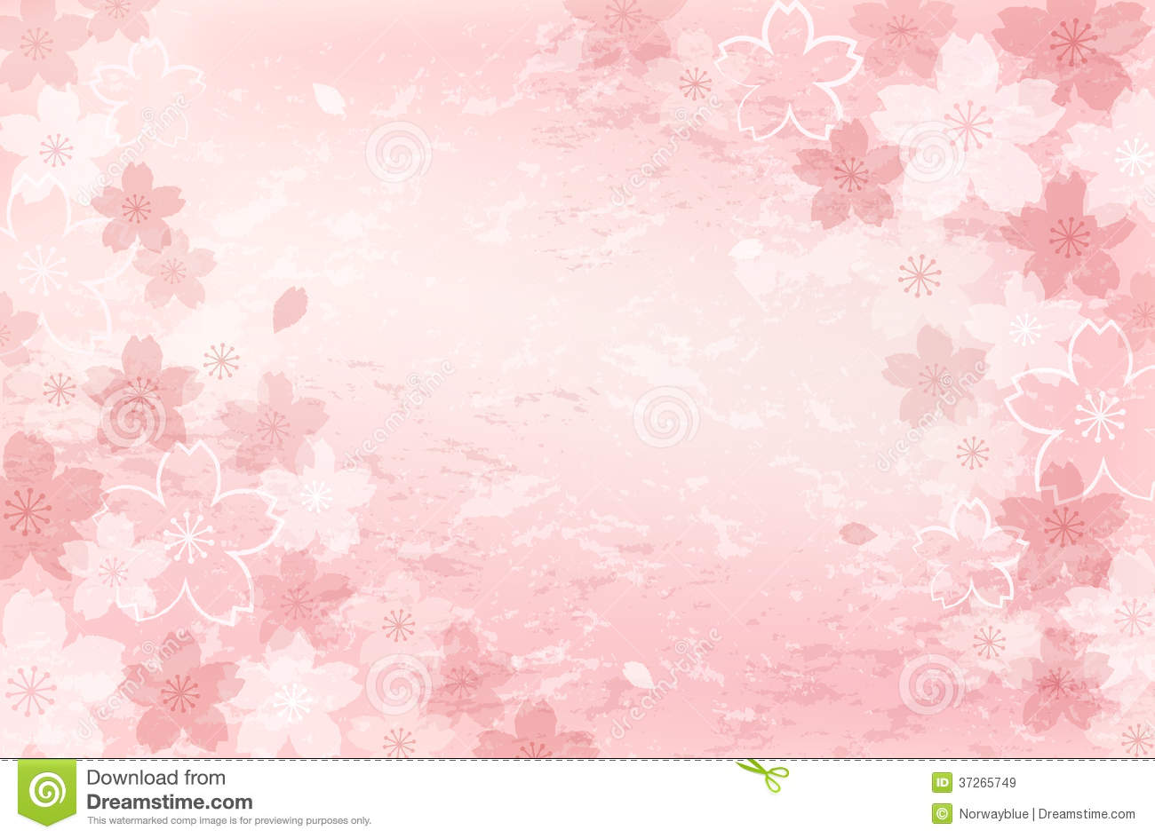 shabby chic cherry blossom background stock vector illustration 37265749 cherry blossom vector pattern cherry blossom vector illustration