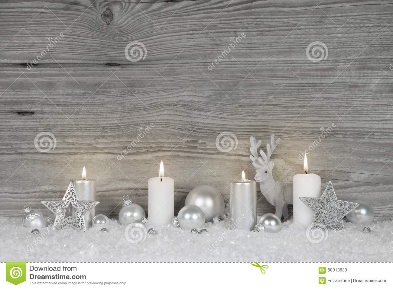 shabby chic christmas background in grey white and silver. Black Bedroom Furniture Sets. Home Design Ideas