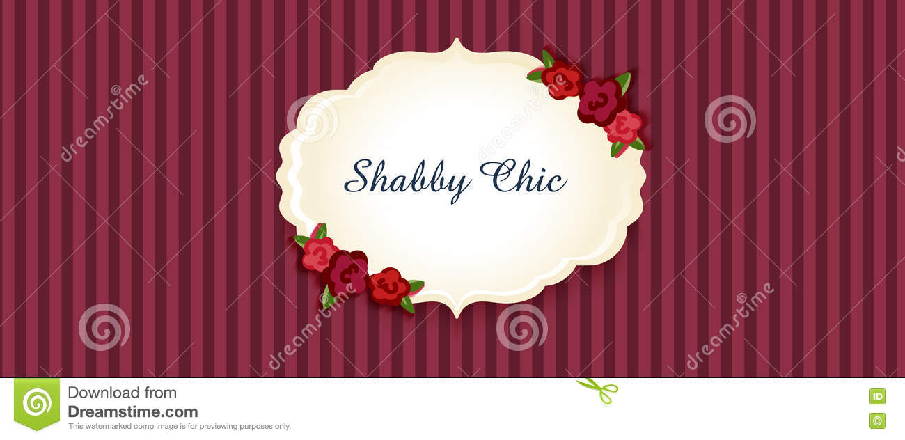 Shabby Chic. Congratulations Card Stock Vector - Illustration of ...
