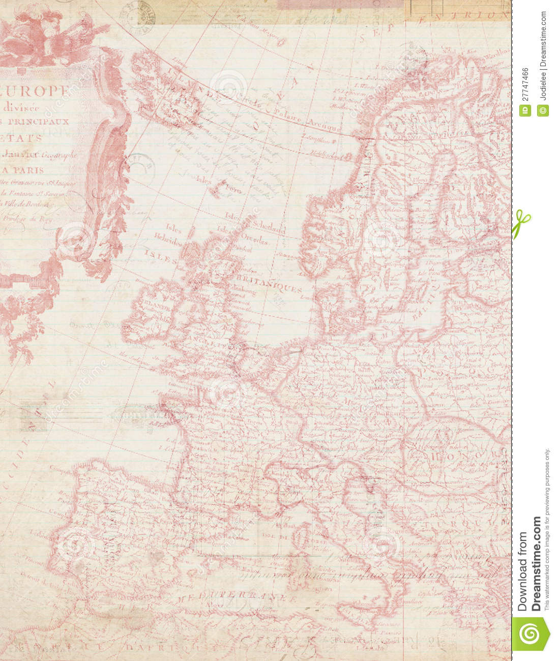 Shabby Chic Map Of Europe In Pink Stock Photo - Image ...