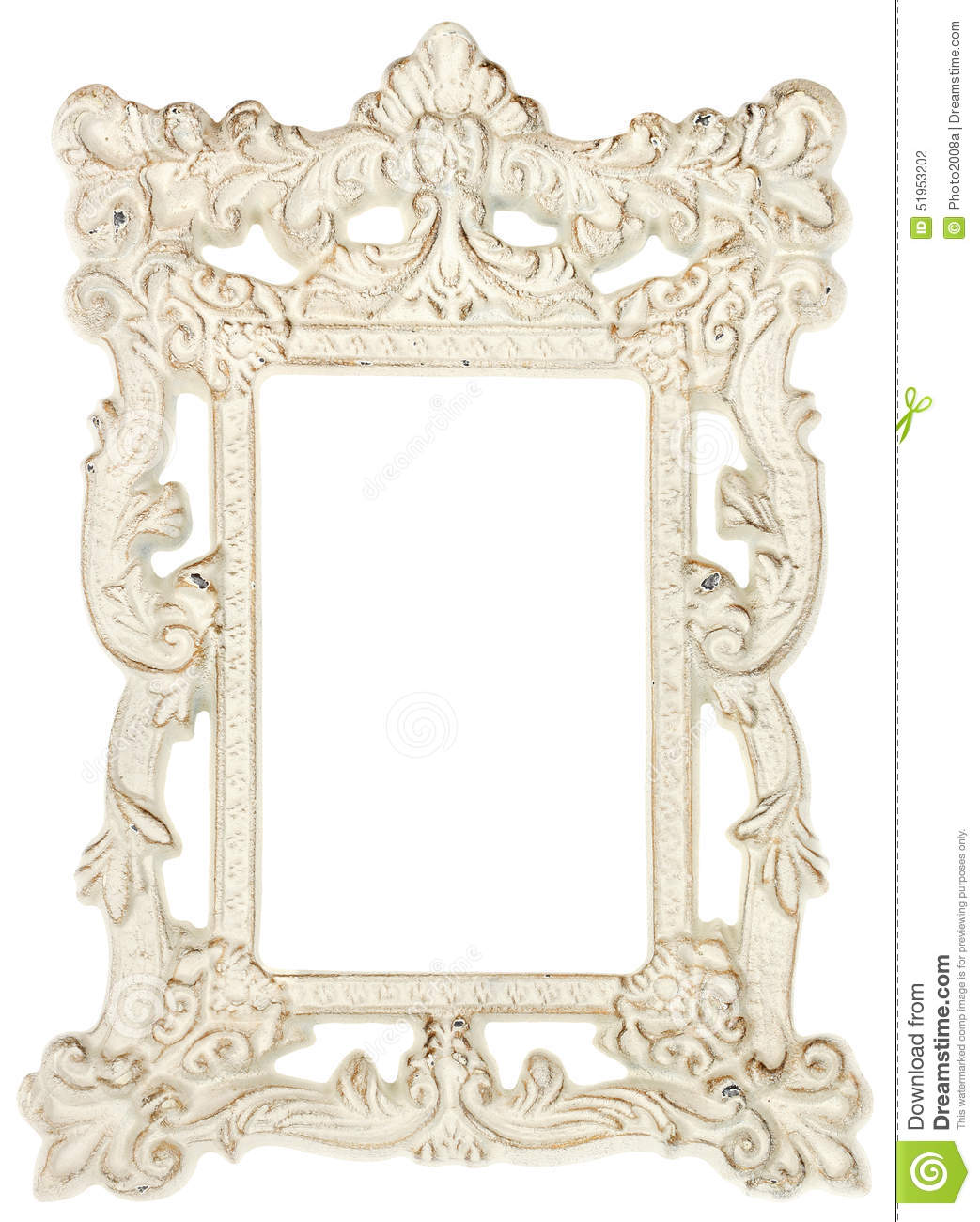 Shabby Chic Picture Frame stock photo. Image of decor - 51953202