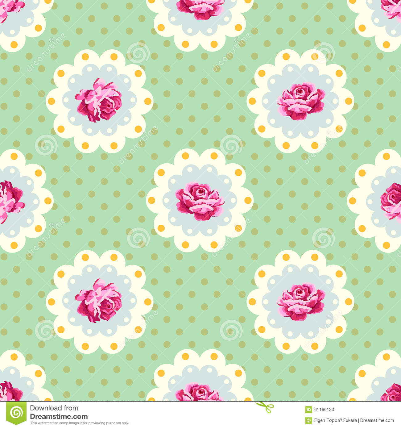 Shabby Chic Rose Pattern Stock Vector Image 61196123